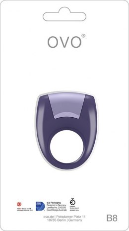 Pierścień-OVO B8 VIBRATING RING COOL LILAC